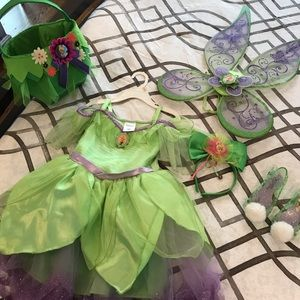 Other - Tinkerbell costume and accessories